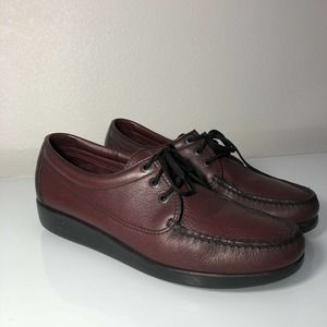 Genuine SAS Red Leather Loafers Men's 11.5